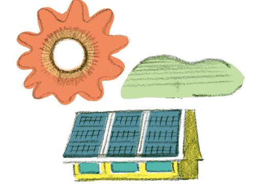 地産地消のエネルギーイメージ