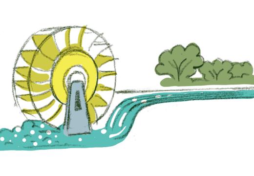小水力発電イメージ
